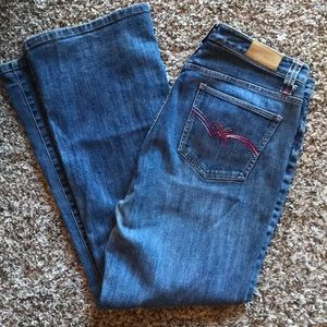 Tommy Hilfiger Low Rise Flare Pink Pocket Jeans 12